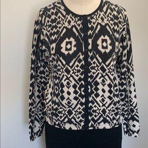 August Silk cotton blend long sleeves cardigan